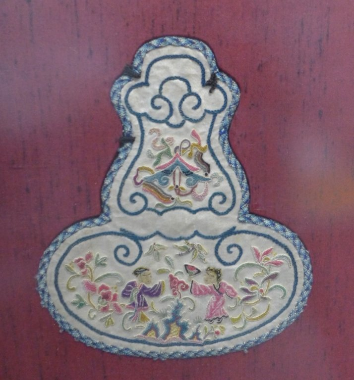 Set of Three Framed Chinese Silk Embroideries - 5