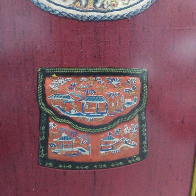 Set of Three Framed Chinese Silk Embroideries - 6