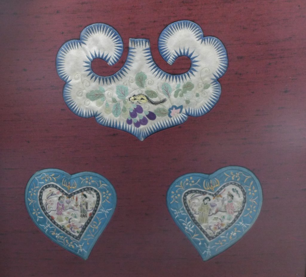 Set of Three Framed Chinese Silk Embroideries - 7
