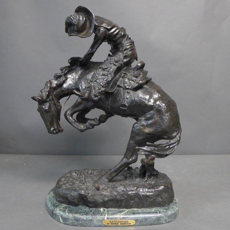 20th C Bronze cast after Frederic Remington