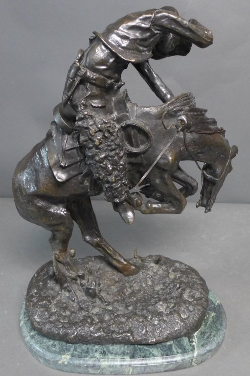 20th C Bronze cast after Frederic Remington - 4
