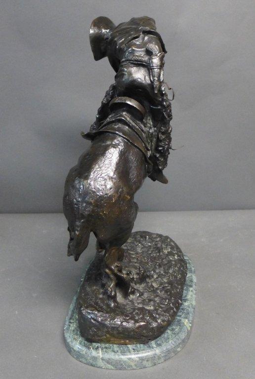 20th C Bronze cast after Frederic Remington - 5