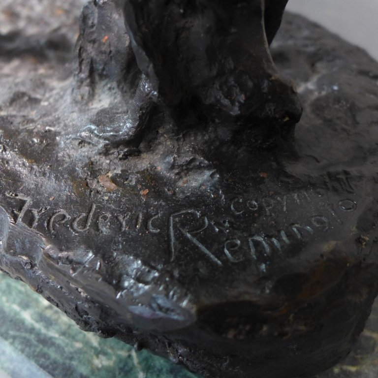 20th C Bronze cast after Frederic Remington - 6