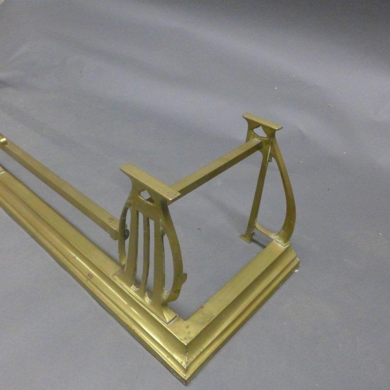 Brass Fireplace Fender - 3