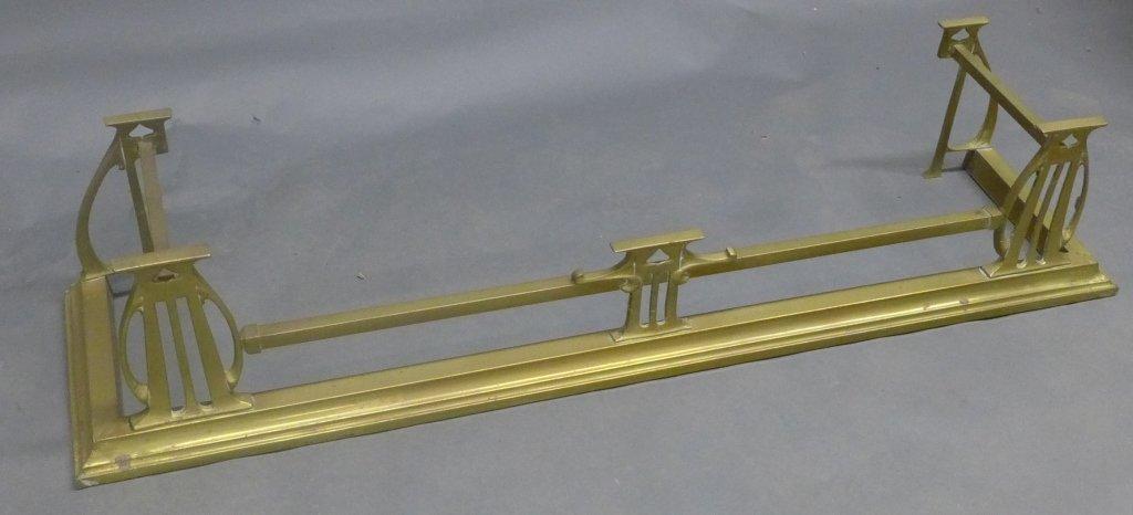 Brass Fireplace Fender - 7