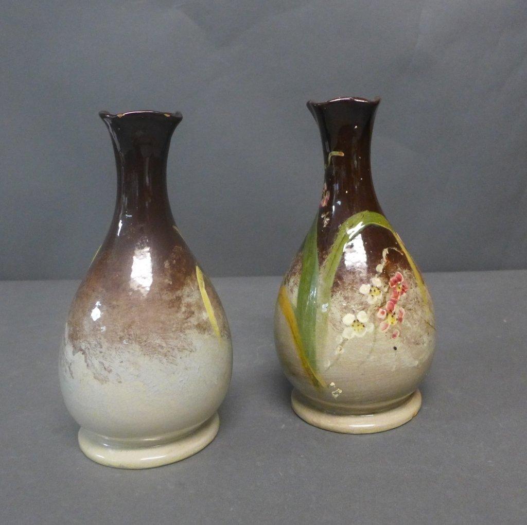 Pair of Art Pottery Vases - 4