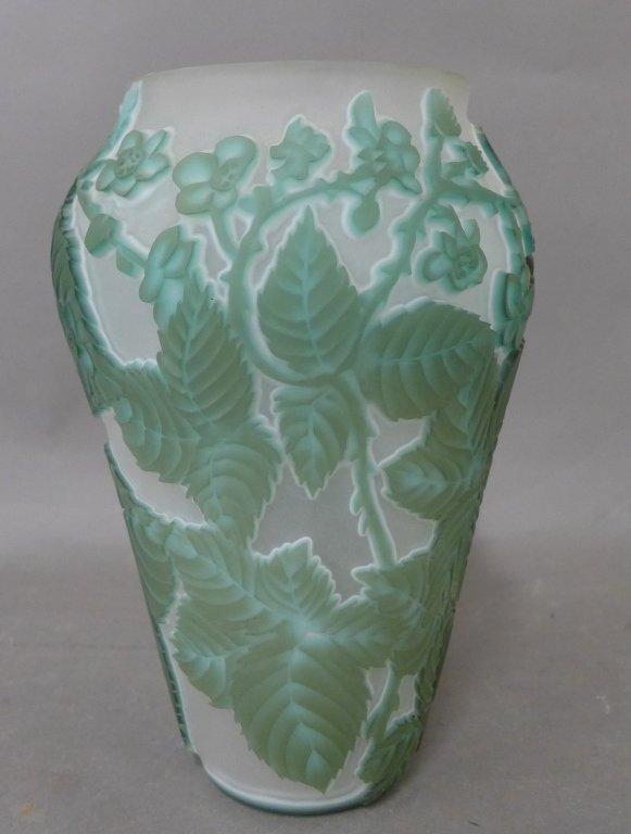 20th Century Cameo Glass Vase