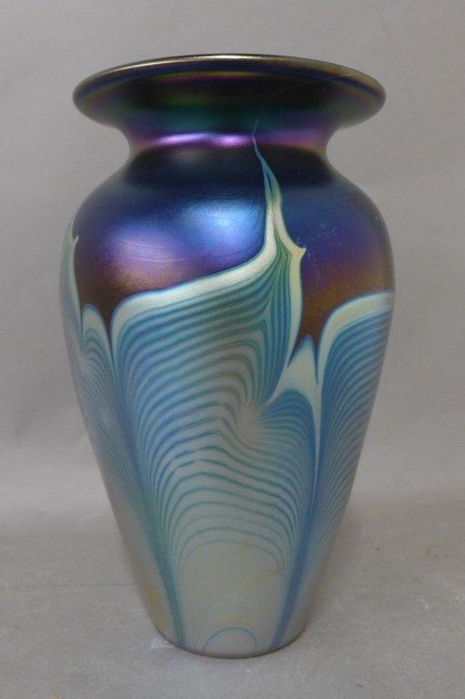 Iridescent Art Glass Vase 20th Century