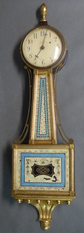 Waltham Banjo Clock