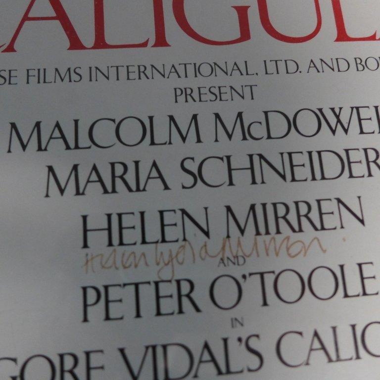 Gore Vidal's Caligula Poster w/ Autographs - 2