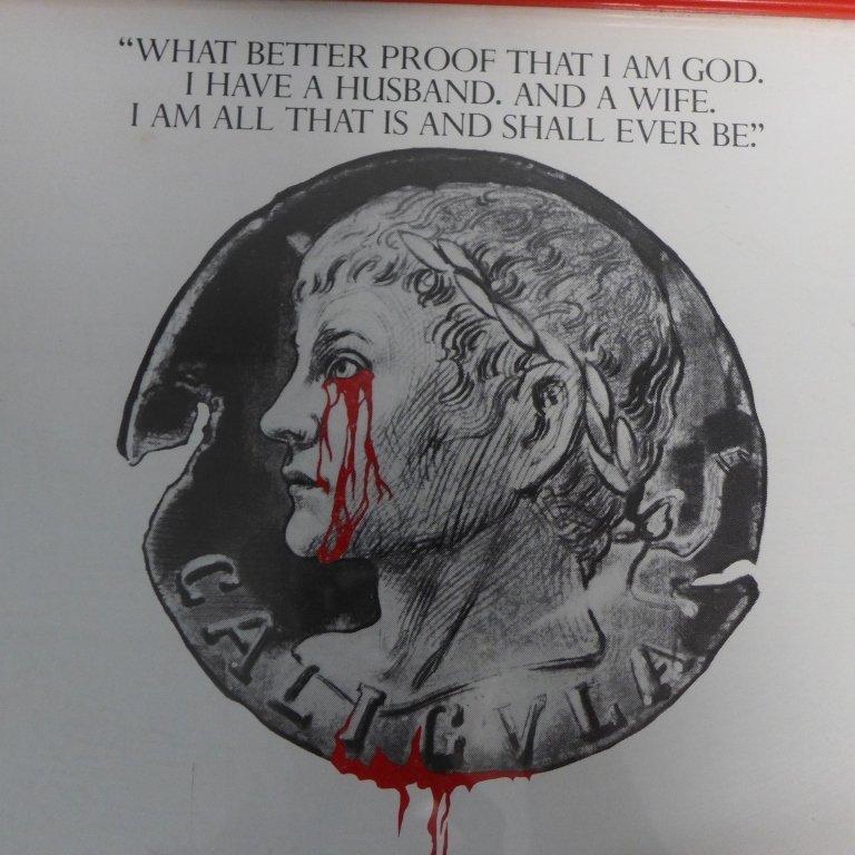 Gore Vidal's Caligula Poster w/ Autographs - 5