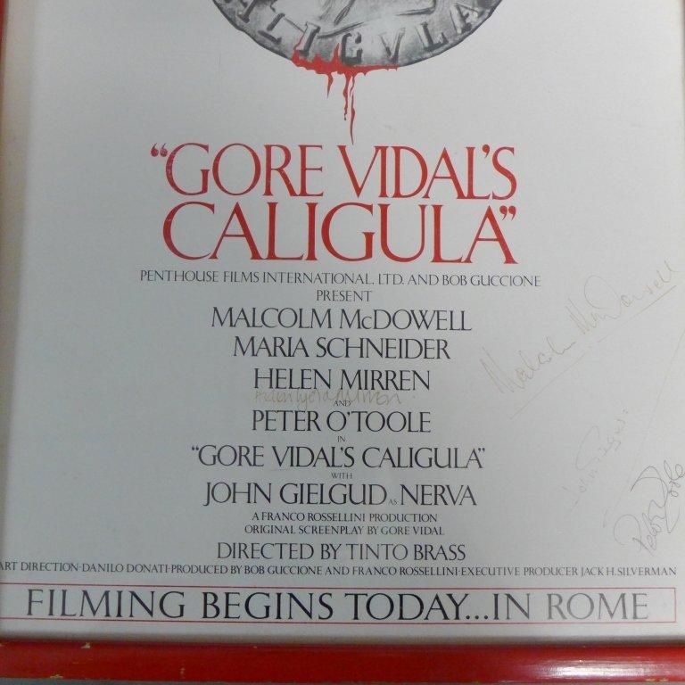 Gore Vidal's Caligula Poster w/ Autographs - 6