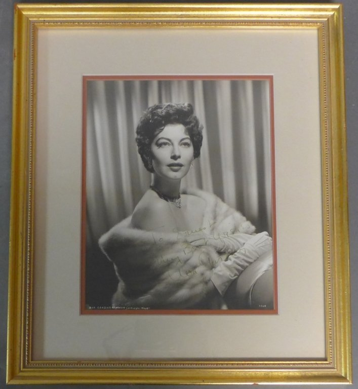 Autographed Photo of Ava Gardner