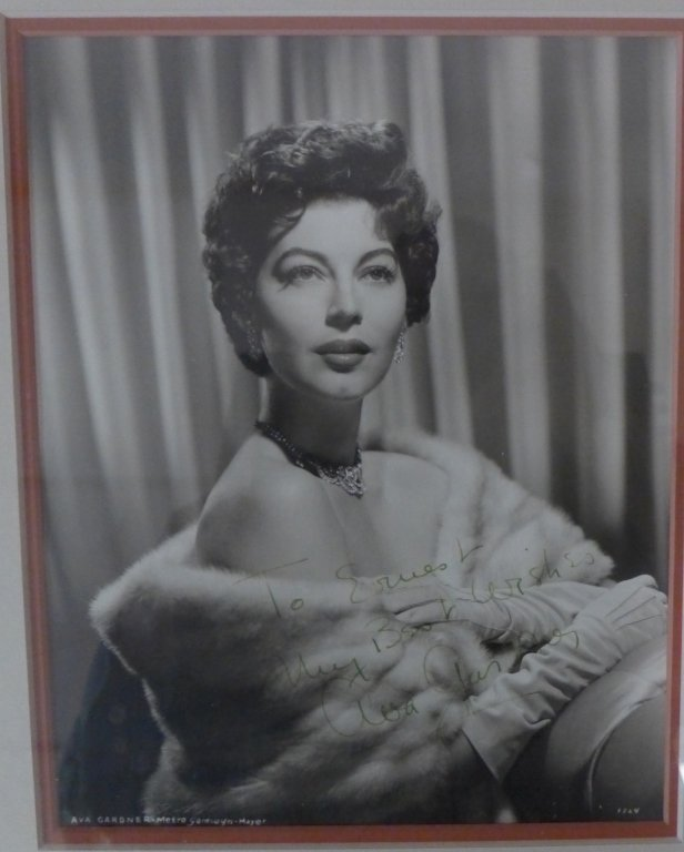 Autographed Photo of Ava Gardner - 7
