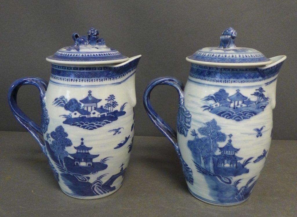 Pair Antique Nanking Cider Jars - 2