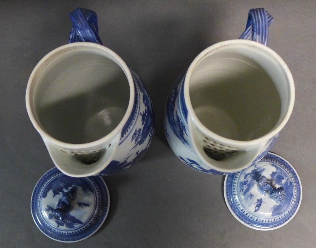 Pair Antique Nanking Cider Jars - 6