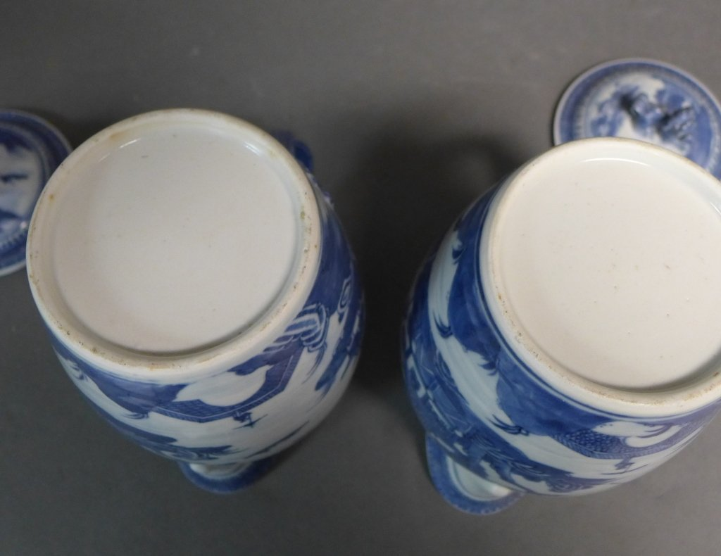 Pair Antique Nanking Cider Jars - 9
