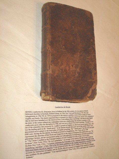 1004: 1763  A System of Religion, Lambertus de Rone