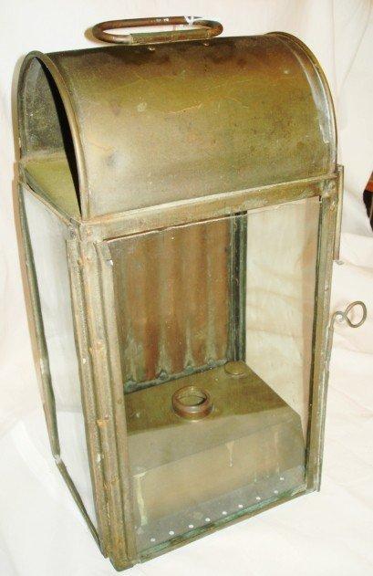 1017: Large brass lantern