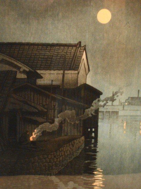 1019: Hasui Kawase Japanese Woodblock w/ chopmarks