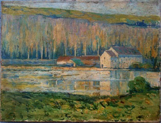 1030: 19th C French Impressionist OIl Painting