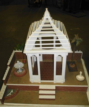 2: Vintage Gazebo & Courtyard Dollhouse