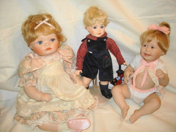4: 3 pc. porcelain dolls