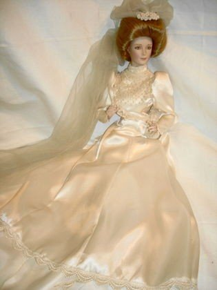 15: Gibson Girl style Bride Doll