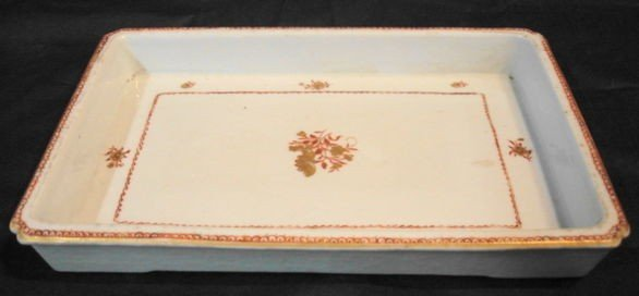 1019: 19th C Chinese Export Porcelain Bulb tray