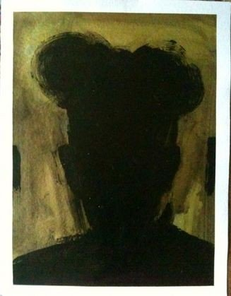 "1032: Richard Hambleton ""Shadow Man"" Painting"