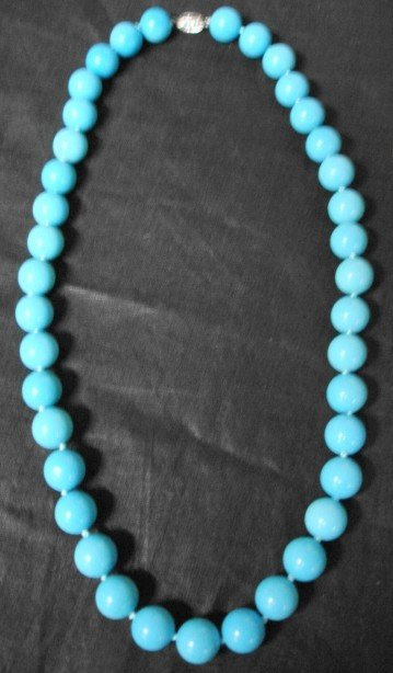 1051: Tiffany & Co Persian Turquoise Necklace