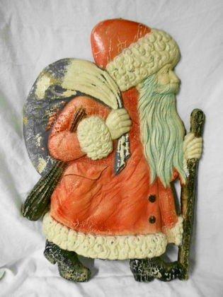 1006: Vintage German Cardboard Santa Claus