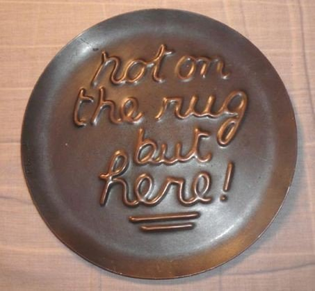 1010: Francisco Rebaje Copper Plaque, signed