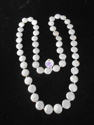 1020: Baroque Coin Pearl Necklace