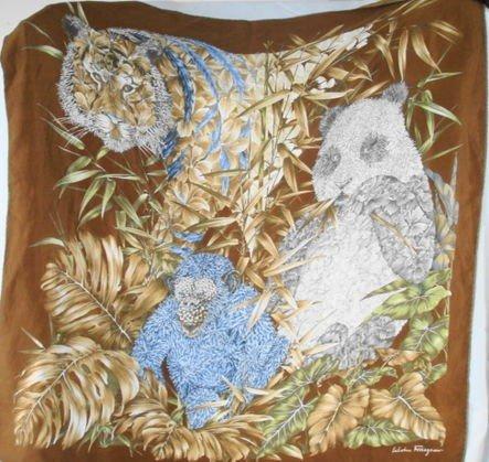 1018A: Ferragamo Vintage Silk Scarf