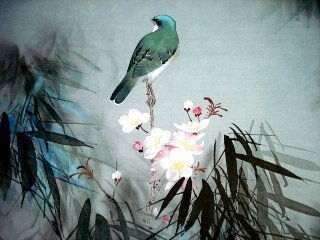 1010: Watercolor on Silk, David Lee (Chinese)