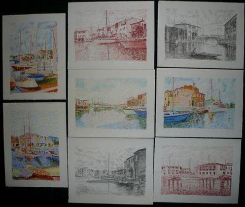1014: Serge Mendjisky Lithographs, 8 pcs, sgnd