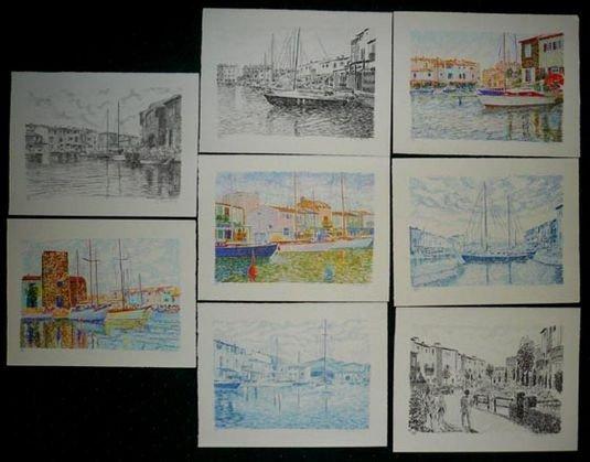 1015: Serge Mendjisky Lithographs, 8 pieces