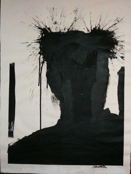 "1021: Richard Hambleton (American, b. 1954)  ""Shadow"""