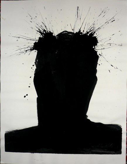 "1022: Richard Hambleton ""Exploding Shadow"" Painting"