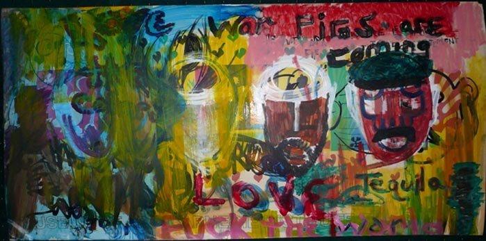 "1023: ""War Pigs""  NYC Graffiti Painting, c. 1970"