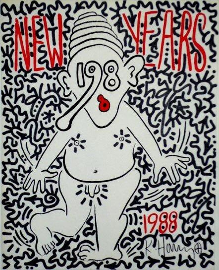 "1024: Keith Haring/ LA II  ""New Years 1988"""