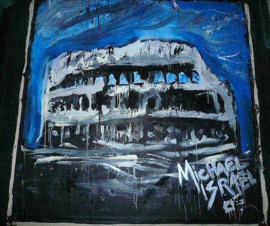 1028: Michael Israel (American) Oil on canvas