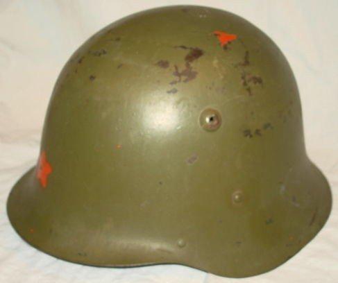 1004: WW2 Helmet, European, Liner & Strap intact