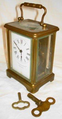 1010: Camerdon & Forster Brass Carriage Clock