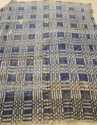 1013: Winter/Summer  Antique Woven Coverlet