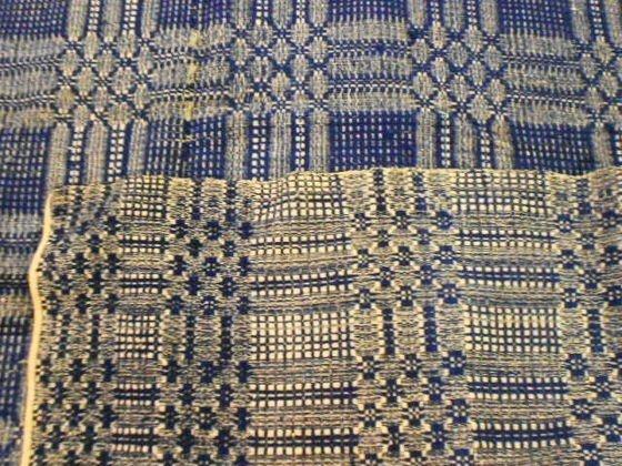 1013: Winter/Summer  Antique Woven Coverlet - 2