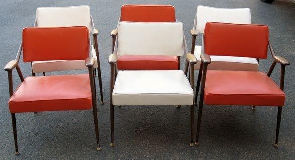 1019: Set of 6 VIKO Baumritter Mid Century Chairs
