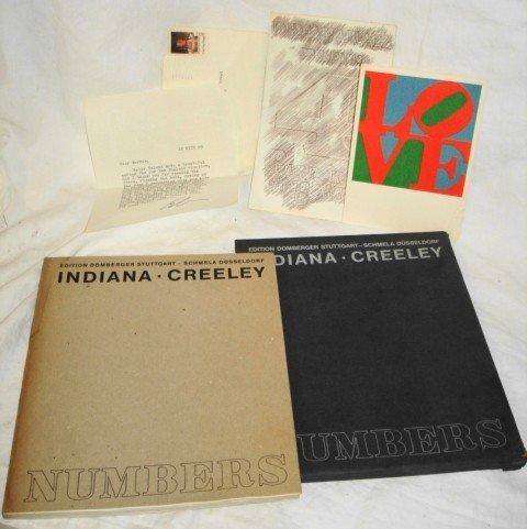 1018A: Robert Indiana autographed letter & ephemera