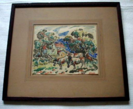 1030: Bela Kadar,  Signed Watercolor, c. 1920